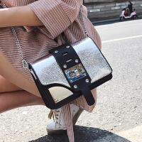 少女小包包女2018夏新款斜挎女包百搭链条单肩包锁扣小方包潮