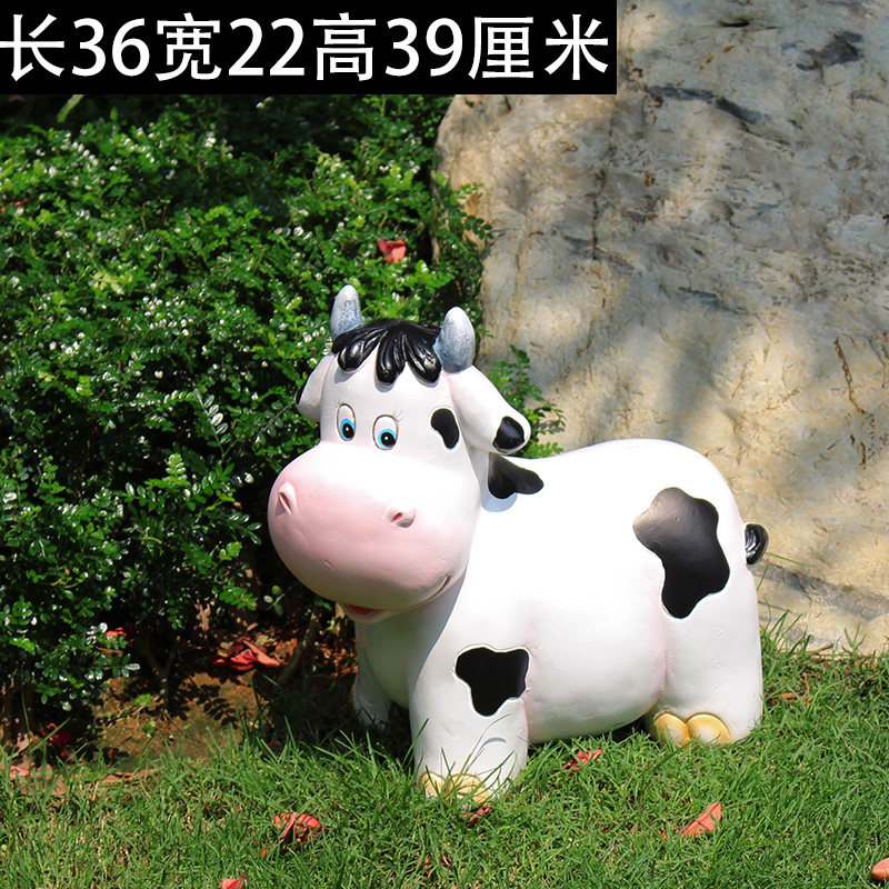花园装饰 庭院别墅幼儿园装饰动物摆件树脂工艺品卡通奶牛摆件 一般在付款后3-90天左右发货,具体发货时间请以与客服协商的时间为准