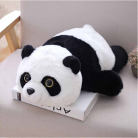 创意礼品 趴趴熊音乐枕 新款熊猫毛绒玩具趴趴款坐姿熊猫公仔娃娃柔软抱枕