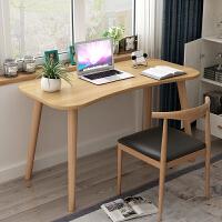 【限时7折】北欧电脑桌家用简约写字桌办公桌学习书桌经济型儿童实木书桌餐桌