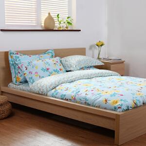 多喜爱MMK家纺贡缎床上用品全棉田园风四件套全棉床品套件和歌山
