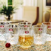 无铅透明加厚玻璃杯烈酒威士忌啤酒杯水杯果汁洋酒杯6只装SN7099 矮款270ml6只