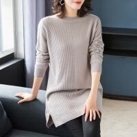 №【2019新款】冬天美女穿的羊绒衫毛衣女中长款半高领衫女修身套头针织打底衫厚