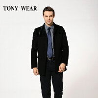 TONY WEAR/汤尼威尔秋冬男士商务胎牛皮休闲长袖羊绒毛呢大衣