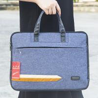 手提包电脑包A4B4办公用拉链袋资料袋布包文件包文件会议袋