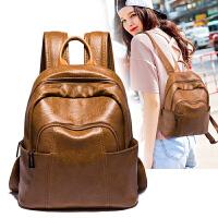赵丽颖同款双肩包女韩版2020新款潮百搭软皮背包书包休闲旅游旅行包
