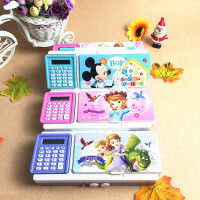 迪士尼多功能计算器文具盒儿童小学生用铅笔盒男女款铅笔袋