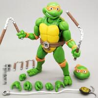 忍者神龟玩具模型电影手办可动人偶武器汽车摆件公仔生日礼物NECA