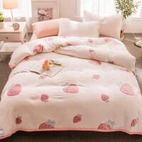 毛毯被子珊瑚绒毯子男加厚保暖秋冬季用法兰绒床单人女学生宿舍