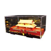 DIY手工金属拼图北京故宫紫禁城拼装建筑3d立体模型亮灯 (黄灯) 送罩