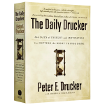 德鲁克日志 英文原版 The Daily Drucker 全英文版管理学进口书 行动手册366天的洞察力和灵感 现货正