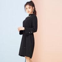 【2件2.5折到手价:70】美特斯邦威连衣裙女新款时尚都市风甜美直身雪纺连衣裙