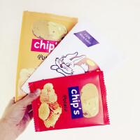原宿软妹薯片手拿包韩国韩版趣味零食大白兔奶糖手机包包