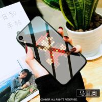 iphone xr手机壳玻璃镜面苹果xr手机壳iphonexr潮网红男潮牌个性