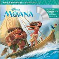 英文原版 海洋奇缘 书+CD 有声读物 Moana Read-Along Storybook & CD 迪士尼故事系列
