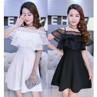 韩版主持小礼服连衣裙时尚派对生日晚宴年会宴会晚礼服女2018新款 均码