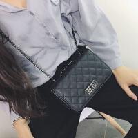 包包女2018新款韩版百搭小香风迷你小包简约时尚斜挎包菱格链条包
