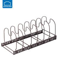 乐扣乐扣锅盖架坐式厨房置物架多功能砧板锅具收纳架沥水架免打孔 LWR104