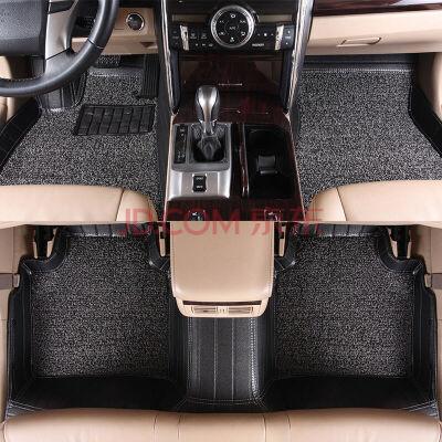 东风S500风神L60 A30 S30风行专车专用皮革丝圈脚垫 皮革+丝圈汽车脚垫  风行S500 七座