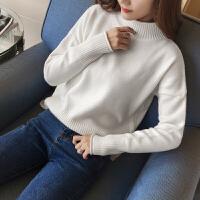 20秋冬新款高领毛衣女韩版套头学生长袖宽松针织打底衫加厚