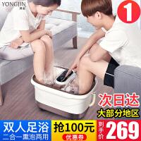 足浴盆器全自动洗脚盆电动按摩加热泡脚桶双人家用足疗机恒温