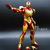 美国队长3 钢铁侠手办复仇者联盟2装甲MK43 MK42可动人偶模型玩具