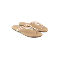 LondonRag夏季平底休闲人字拖鞋夹脚罗马鞋平跟夹趾沙滩鞋女鞋