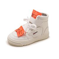 女童运动鞋高帮休闲短靴2018新款儿童网红春秋款小学生单鞋男童鞋