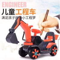 充电宝宝男孩工程车玩具车儿童电动挖掘机可坐可骑大号挖土机