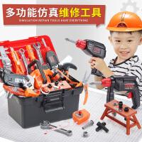 �和�工具箱玩具套�b男孩仿真�S修��@工具�_修理箱�����Q螺�z�M�b
