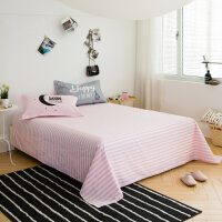 策序家纺床单单件全棉纯棉斜纹加大床单单双人学生床上用品