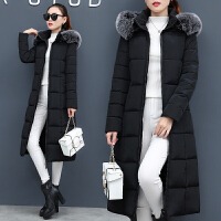 反季棉衣女中长款过膝保暖外套时尚韩版加长加厚冬季