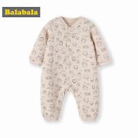 巴拉巴拉婴儿连体衣哈衣新生儿秋冬衣服宝宝睡衣加厚保暖0-3个月
