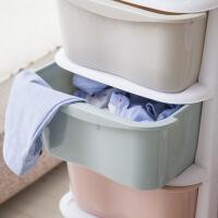 日式滚轮收纳抽屉柜塑料多用途儿童储物柜置物整理柜收纳箱杂物柜 龙 3个
