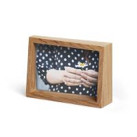 进口木质相框现代简约创意照片墙架摆台6寸7寸 桌面挂墙