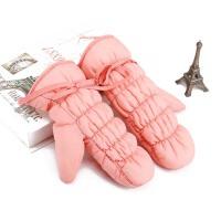 秋冬季女士保暖手套 骑车防风羽绒棉可爱学生加绒厚手套 滑雪手套