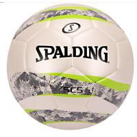 斯伯丁 SPALDING 64-935Y 波浪迷彩系列足球 5号标准球 耐磨热熔 白/灰 PU材质