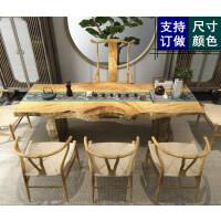 功夫茶几实木客厅茶台家用简约桌椅茶道桌茶艺桌茶桌椅组合泡茶桌 桌 140*60*75厚8公分 组装