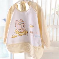 婴儿外出服 纯棉宝宝反穿衣 婴儿吃饭衣 防水无后背画画衣服吃饭衣