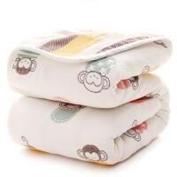 婴儿浴巾6层纯棉纱布超柔吸水新生儿童盖毯宝宝洗澡空调毛巾被子