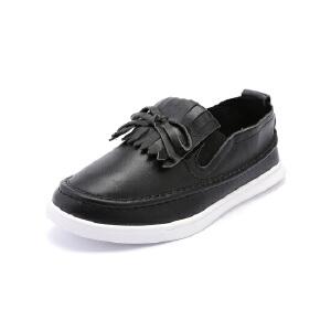比比我 儿童春秋新款一字蹬休闲板鞋大童休闲鞋