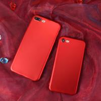 【包邮】iPhone7手机壳大红7plus磨砂壳软壳苹果6手机壳磨砂软壳iphone7plus硅胶外壳6s全包防摔女款