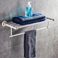 欧式烤漆置物架白色折叠毛巾架卫生间卫浴五金挂件牙刷架肥皂架