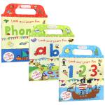 儿童启蒙英语基础入门练习册3册 英文原版 Look and Learn Fun 123 ABC Phonics 手提式