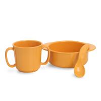 米仔玉米儿童用品训练套餐三件套 碗勺水杯 聚乳酸PLA可自然降解