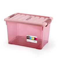 透明收纳箱 塑料储物箱整理箱桌面收纳盒便携整理盒迷你三件套抖音同款 三件套(5L+9L+15L)