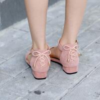 女童凉鞋小高跟软底露趾宝宝公主鞋中大儿童单鞋