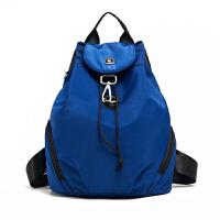2015新款 韩版时尚牛津纺纯色缩口双肩包背包女 学院风学生书包双肩包女包