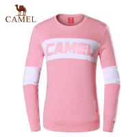 camel骆驼运动卫衣情侣款 长袖圆领休闲舒适透气 时尚运动服上衣男女