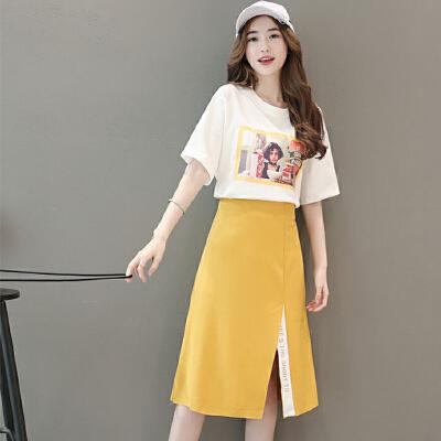 2018夏装新款韩版女装欧洲站小香风连衣裙潮时尚套装裙时髦两件套